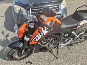 В Самаре иномарка столкнулась с мотоциклом, пострадал человек