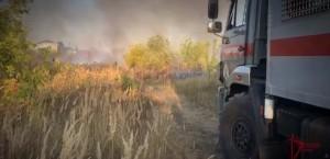 В Самарской области росгвардейцы спасли от пожара два дачных поселка