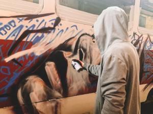 Уличный художник российского происхождения, но уже 20 лет живет в Испании.