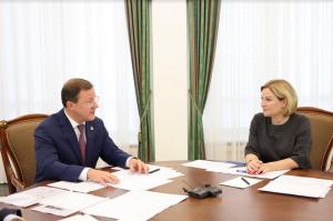 Дмитрий Азаров и Ольга Любимова обсудили вопросы развития культуры в регионе.