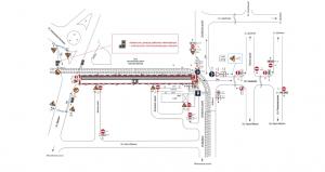 Ограничение движения транспорта  по участкам улиц Гаражной и Карбышева в Самаре продлено