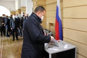 Полномочный представитель проголосовал в Нижнем Новгороде.