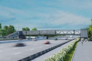 120-метровый переход шириной более четырех метров будет сооружен из сборных алюминиевых конструкций.