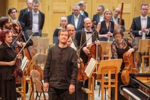 С Академическим симфоническим оркестром Самарской филармонии под управлением маэстро выступил народный артист РФ Николай Луганский (фортепиано).