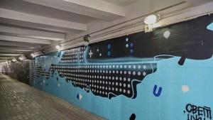 В Самаре на проспекте Кирова художники расписали подземный переход