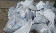 С острова Зелененький собрали около 12 кубометров мусора