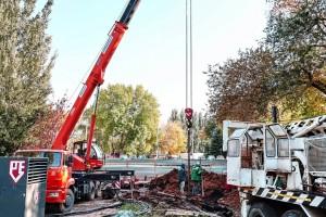 На Аллее Трудовой Славы в Самаре  готовят фундамент для установки стелы