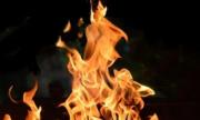 На улицеНово Садовой в Самаре горит квартира нана 7-м этаже 9-ти этажного жилого дома