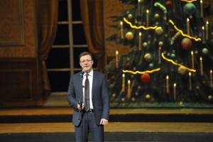 На Рождественском концерте Дмитрий Азаров отметил вклад Русской православной церкви в образовательную сферу, воспитание нравственности, патриотизма в обществе.