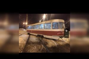 В Самаре на Ново-Садовой-Аминева трамвай сошел с рельсов