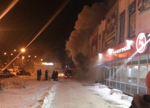Ночью в Тольятти горел мясной отдел Магазин открылся недавно.