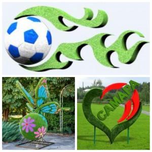 Самару к лету украсят растительные композиции бабочки и матрешки
