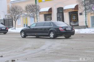 Самарцы сняли на видео проезд президентского кортежа
