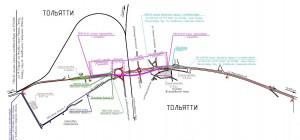 На участке трассы М-5 «Урал» в Тольятти изменят схему движения транспорта