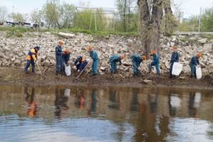 В ходе акции участникам удалось убрать территорию береговой черты в местах базирования пункта ГИМС в Куйбышевском районе Самары.
