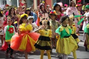 В Самаре состоялся фестиваль цветов: ФОТО В его рамках по ул. Куйбышева прошел красочный костюмированный парад.